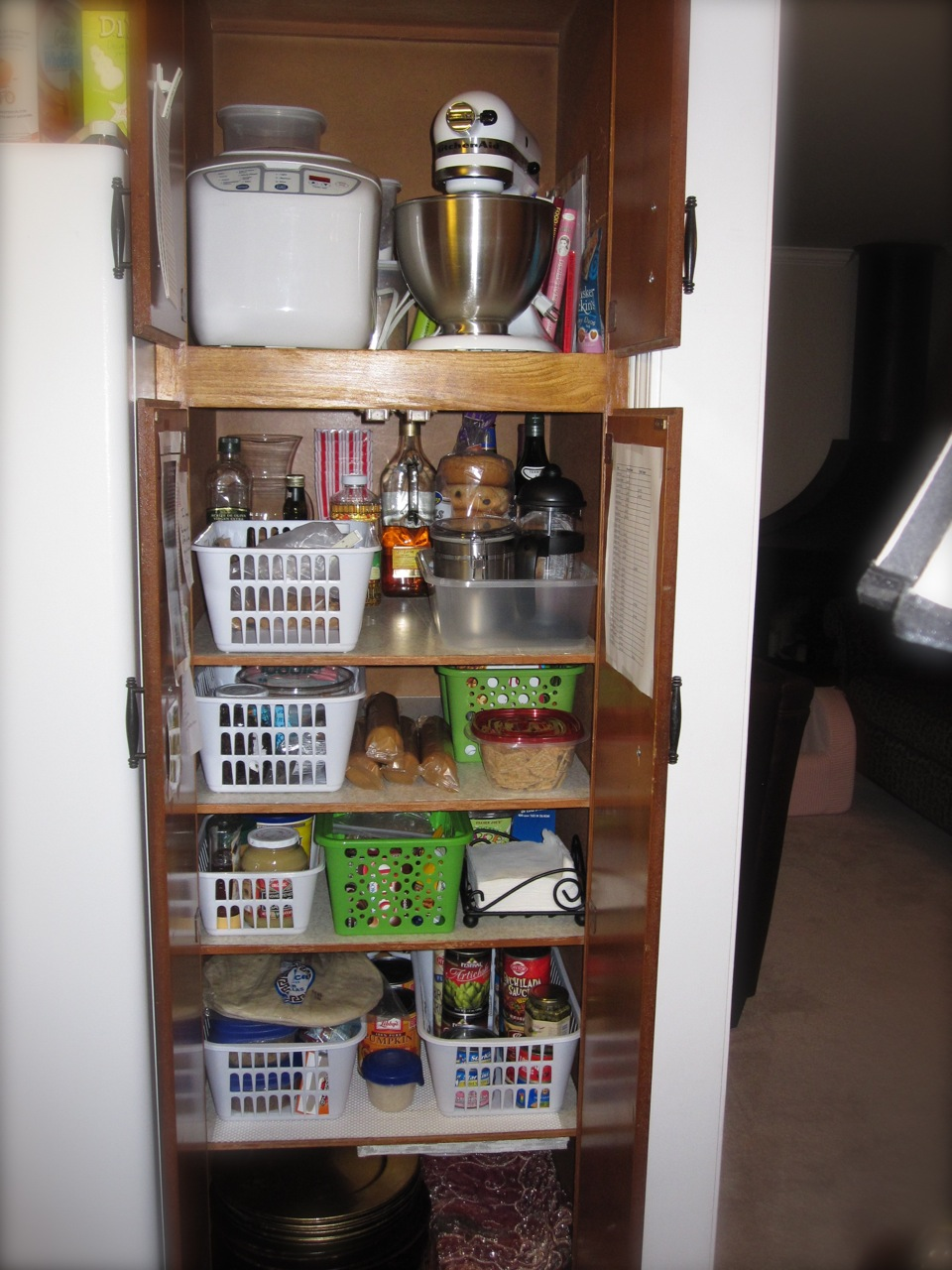 To See A More Recent Post Of My Organized And Painted Pantry Click Here.