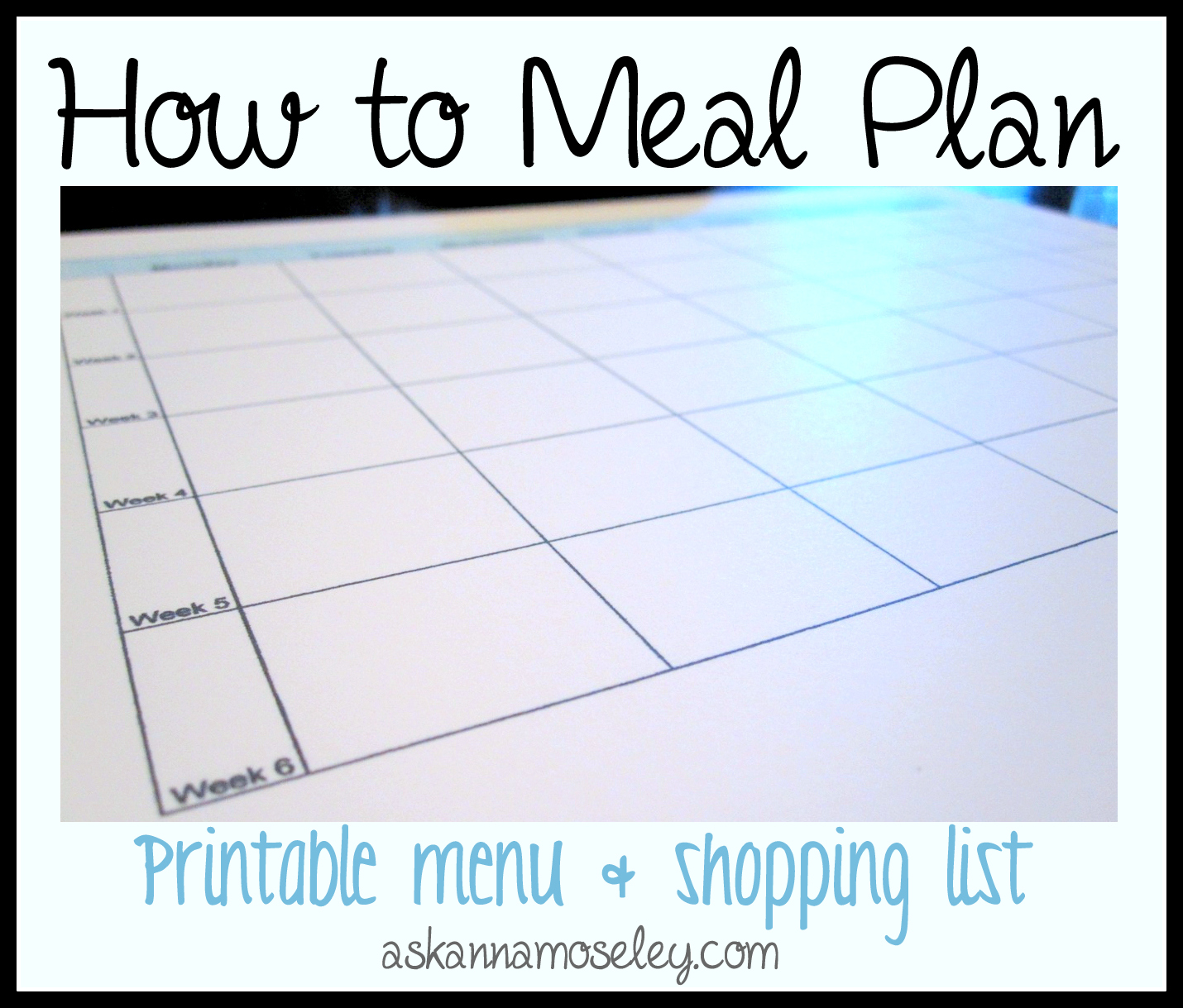 How to Meal Plan