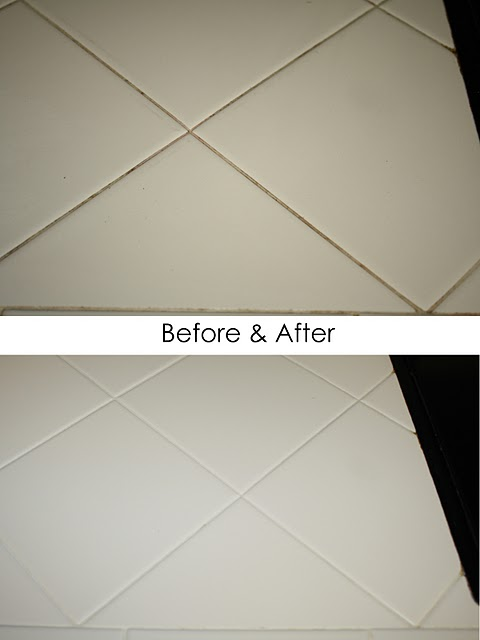 Amazing Transformation The Easiest Way To Clean Grout - Best way to clean white grout in shower