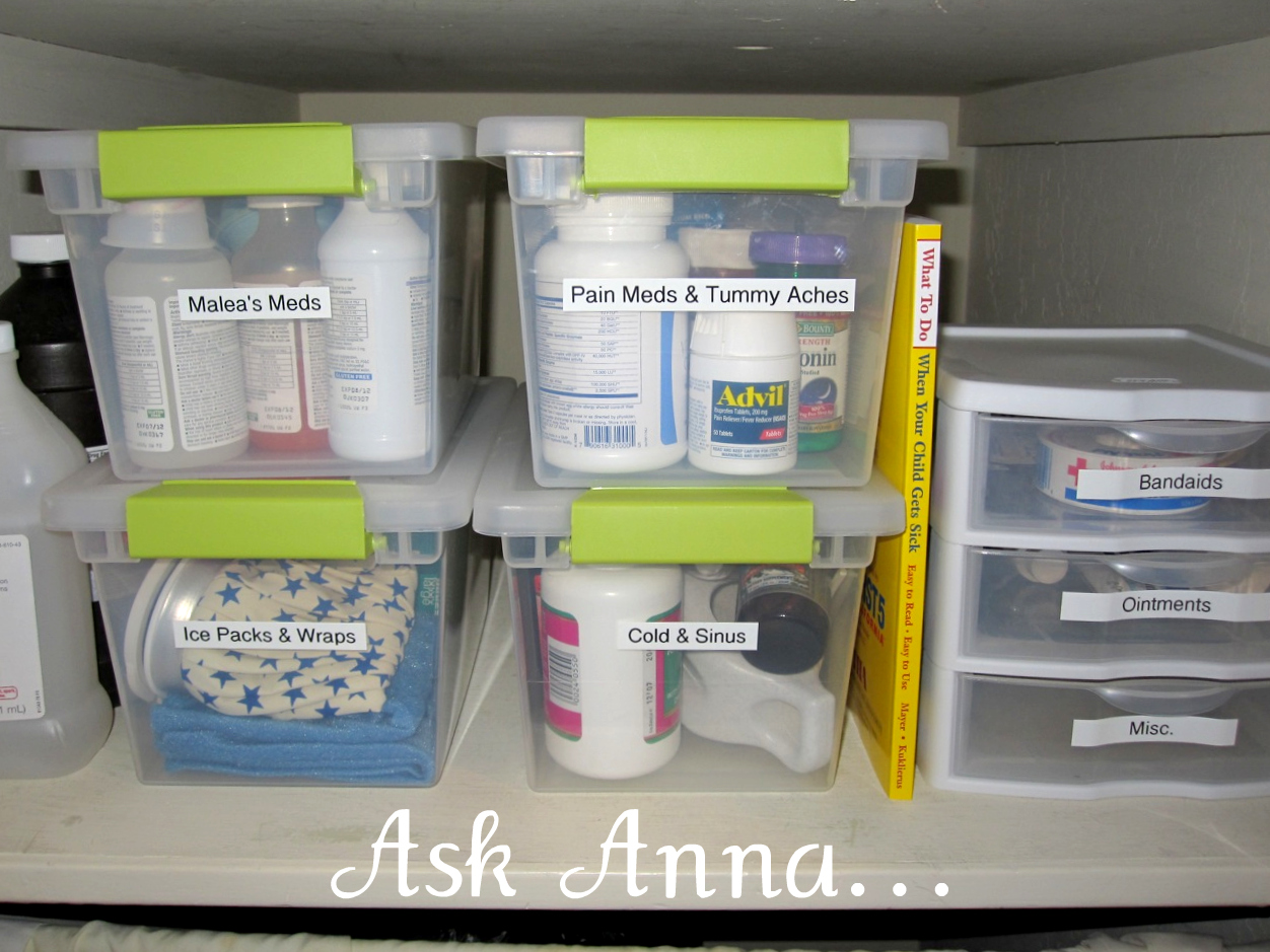 The Easiest way to Organize Medicine Bottles Ask Anna