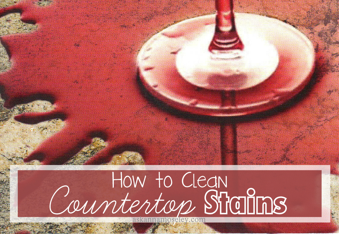 How to Clean Countertop Stains