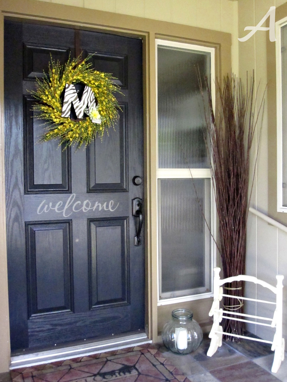 Oh my goodness I am in love with my black front door! I think it looks so stylish so modern and it gives the house a whole new look! & Front Door Makeover - Ask Anna
