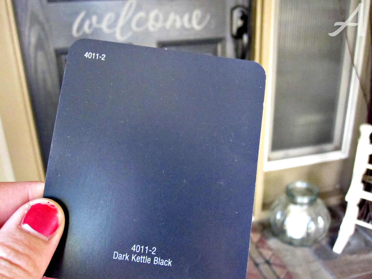 For Those Of You Thinking About Painting Your Front Door Black Here Is The  Color I Used: Dark Kettle Black From Valspar {Loweu0027s}.