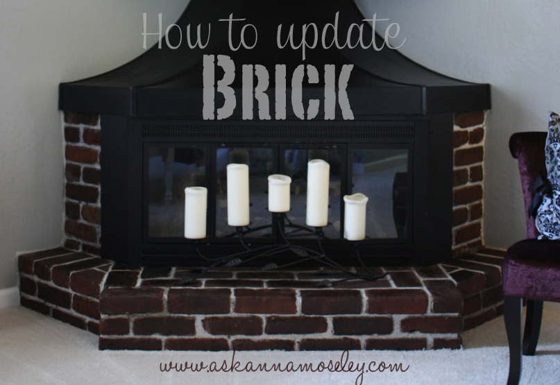 This easy & inexpensive tip will show you how to update a brick fireplace! Check out the tutorial and you won
