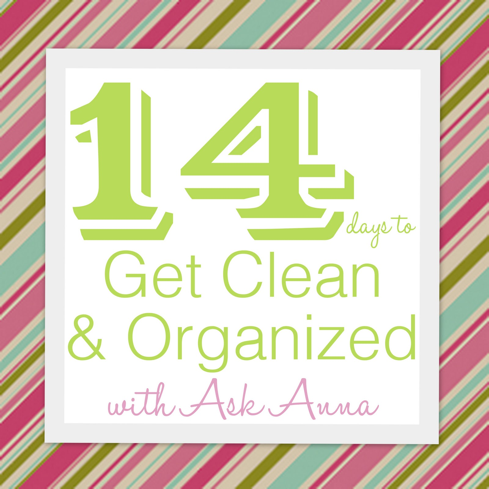 Cleaning Challenge: 14 Days to Get Clean & Organized!