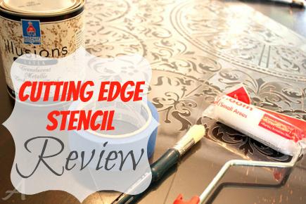Cutting Edge Stencil Review (Georgian Ceiling Medallion)