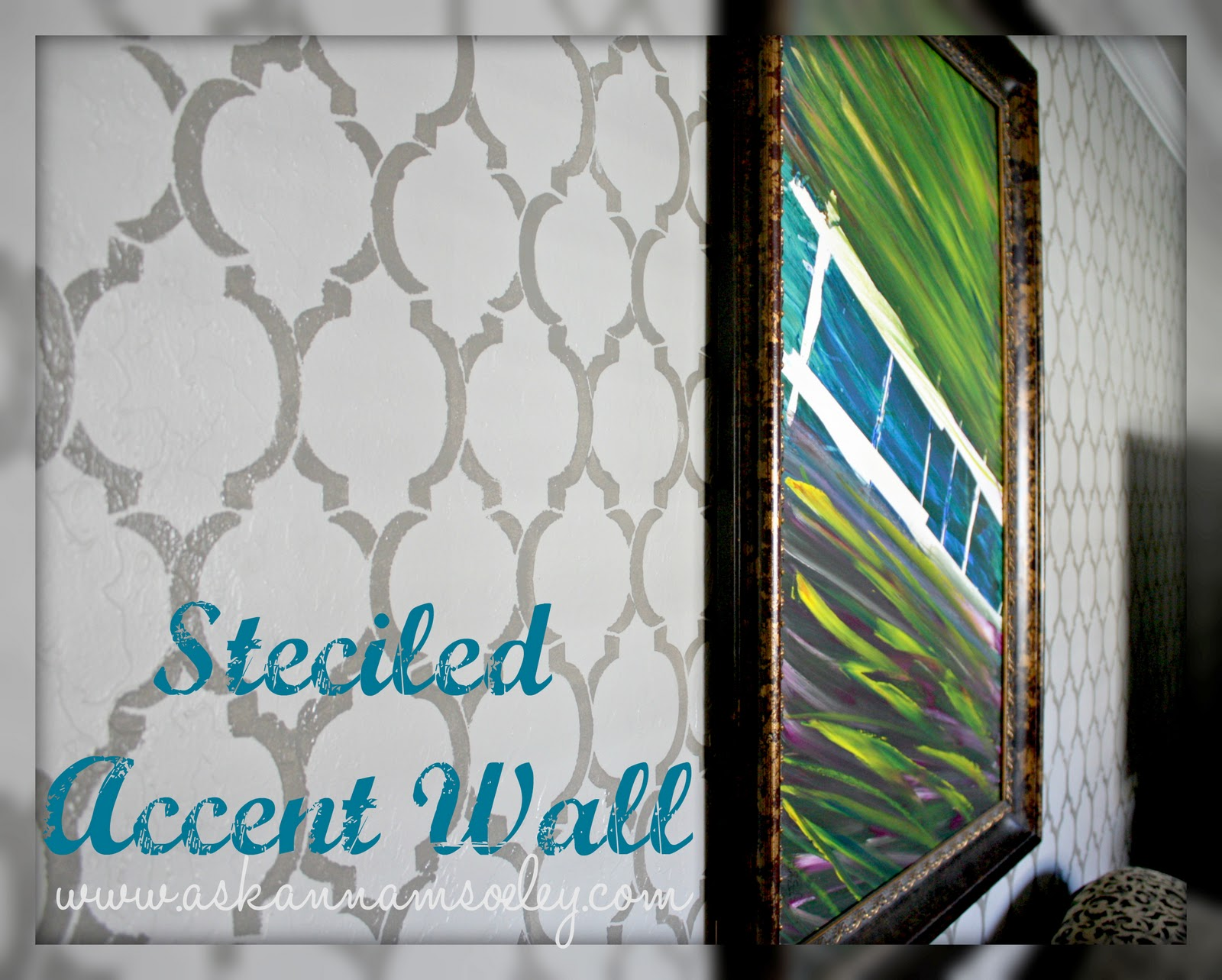 I Am In Love With My New Living Room Accent Wall! I Am Also In Love With  Cutting Edge Stencils! I Purchased This Moroccan Dream Allover Stencil  Awhile Back ...
