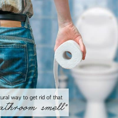 "An All-natural Way to get Rid of that ""Boy Bathroom Smell"""