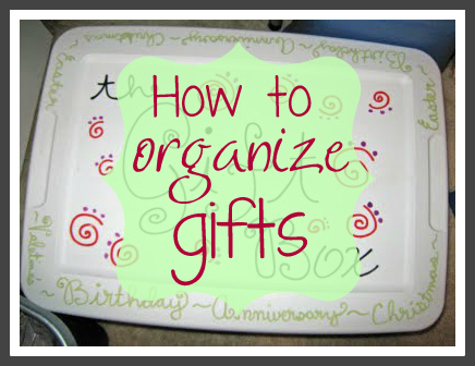 How to Organize your Gift Giving (free printable)