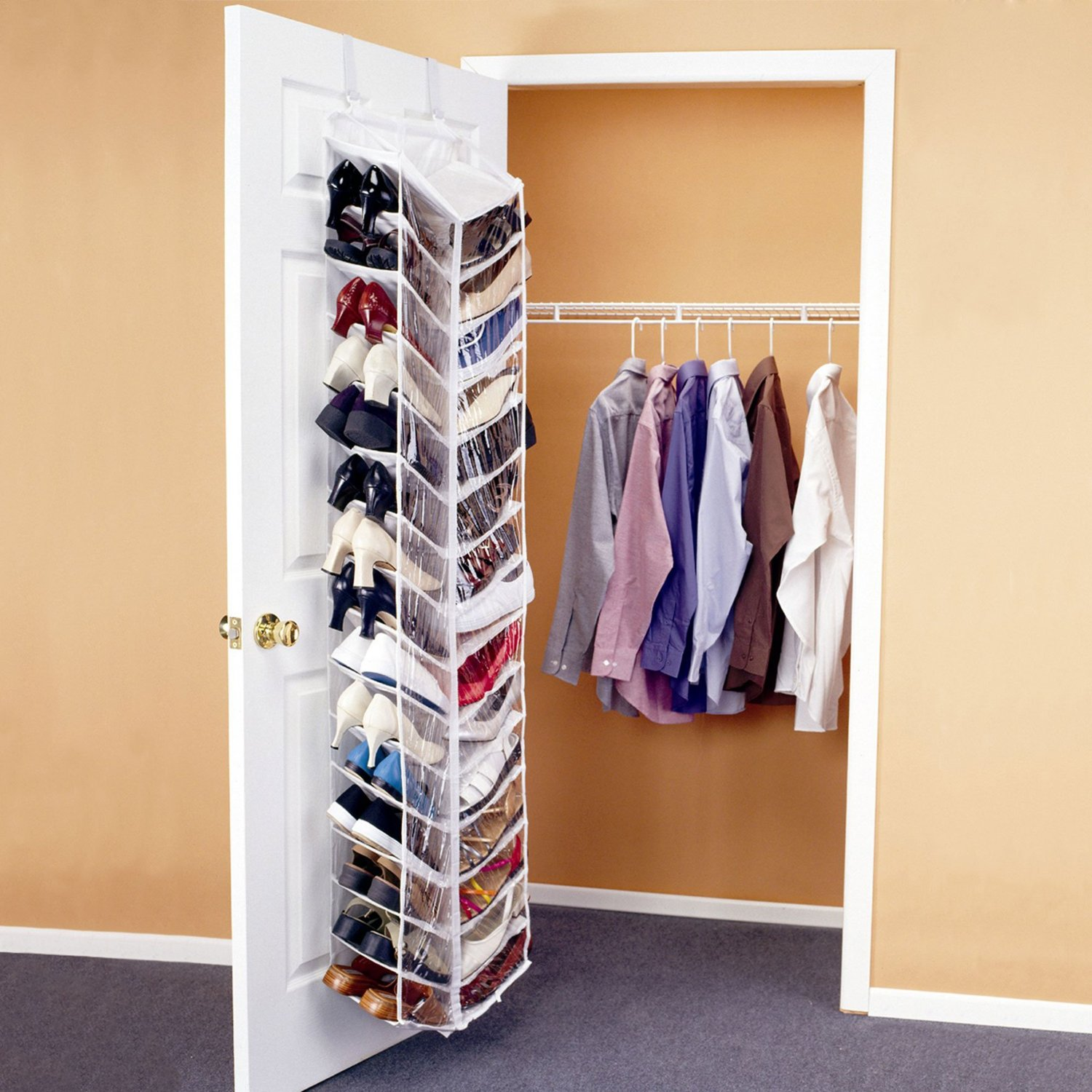 Step #1: Hang The Sweater Organizer In The Closet, Or On A Door.