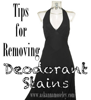 How to clean deodorant stains from dark clothes ask anna for How to get stains out of white shirts