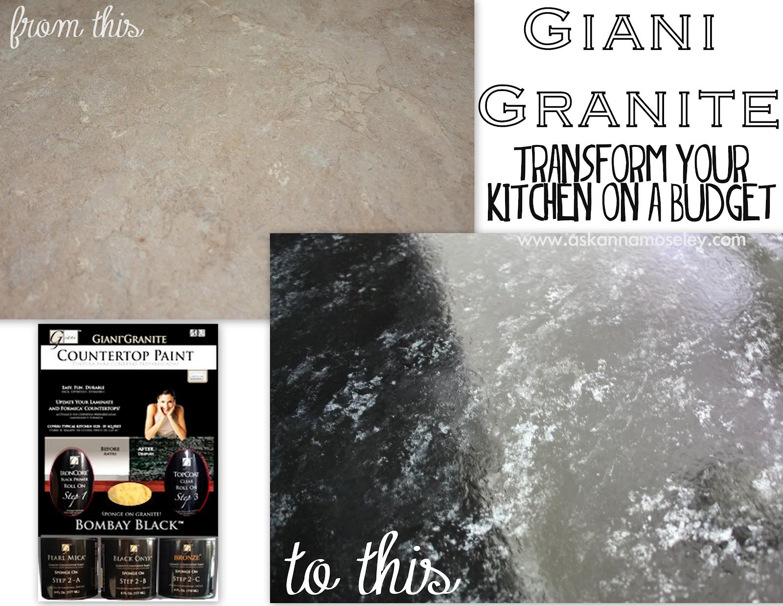 Giani Granite Countertop Paint Review Ask Anna - Kitchen countertop paint kits