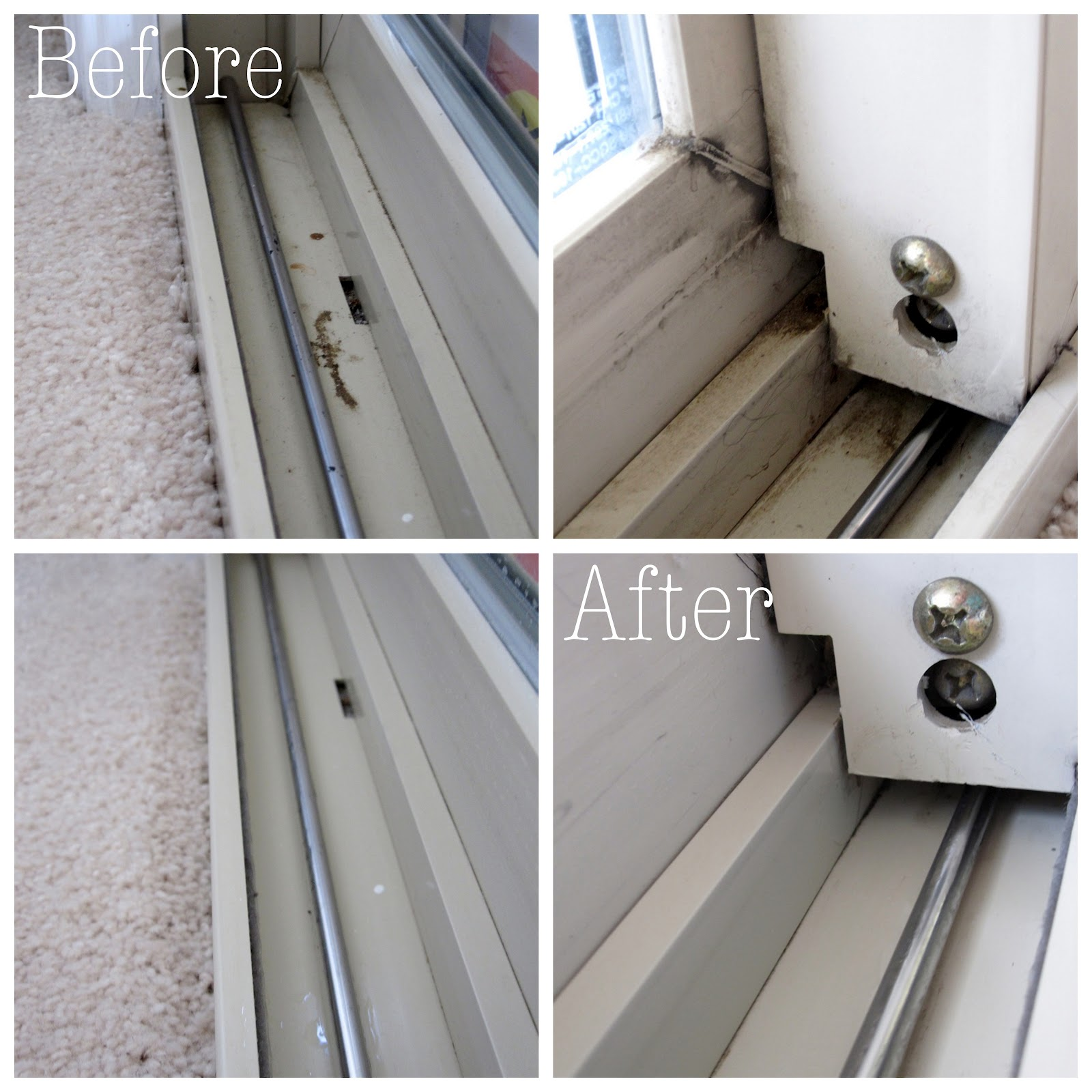 The easiest way to clean window tracks