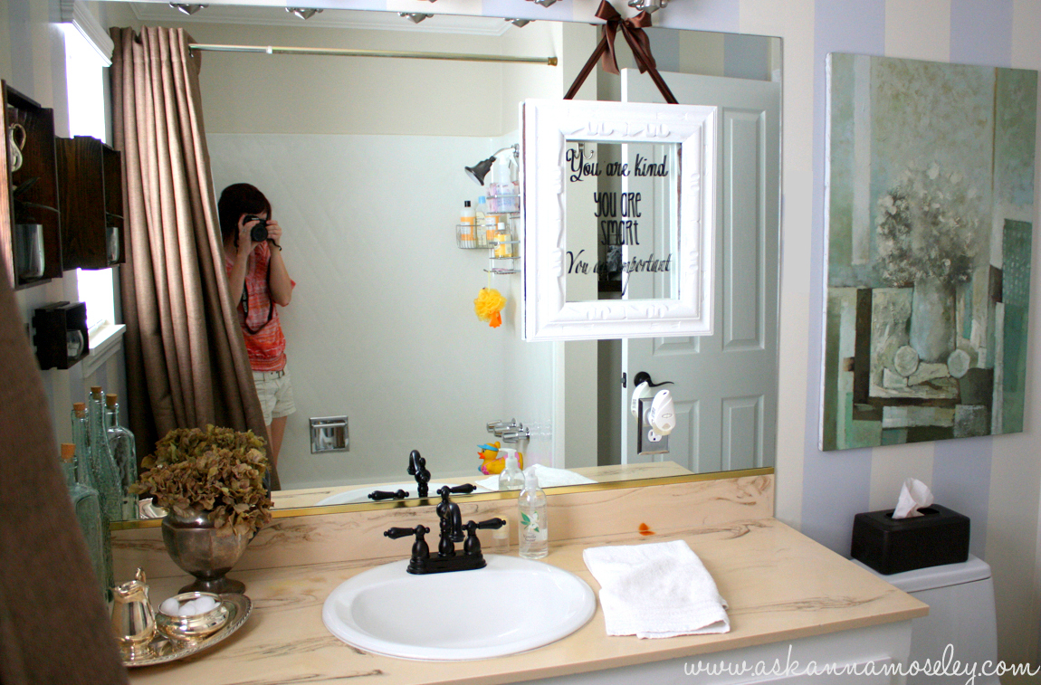 Article 0733dc Bathroom Color Ideas For Painting - I knew that i wanted to paint the bathroom blue ish gray but i decided that painting the whole room that color would be too much which meant stripes were