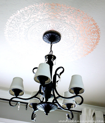 Simple & Inexpensive Chandelier Makeover