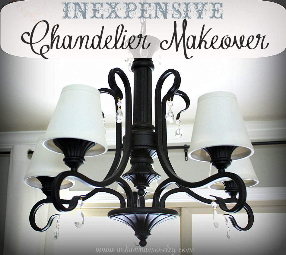 Simple inexpensive chandelier makeover ask anna this chandelier was in the house when we purchased it a couple of years ago i have never liked it but i havent had the money to replace it chandeliers arubaitofo Images