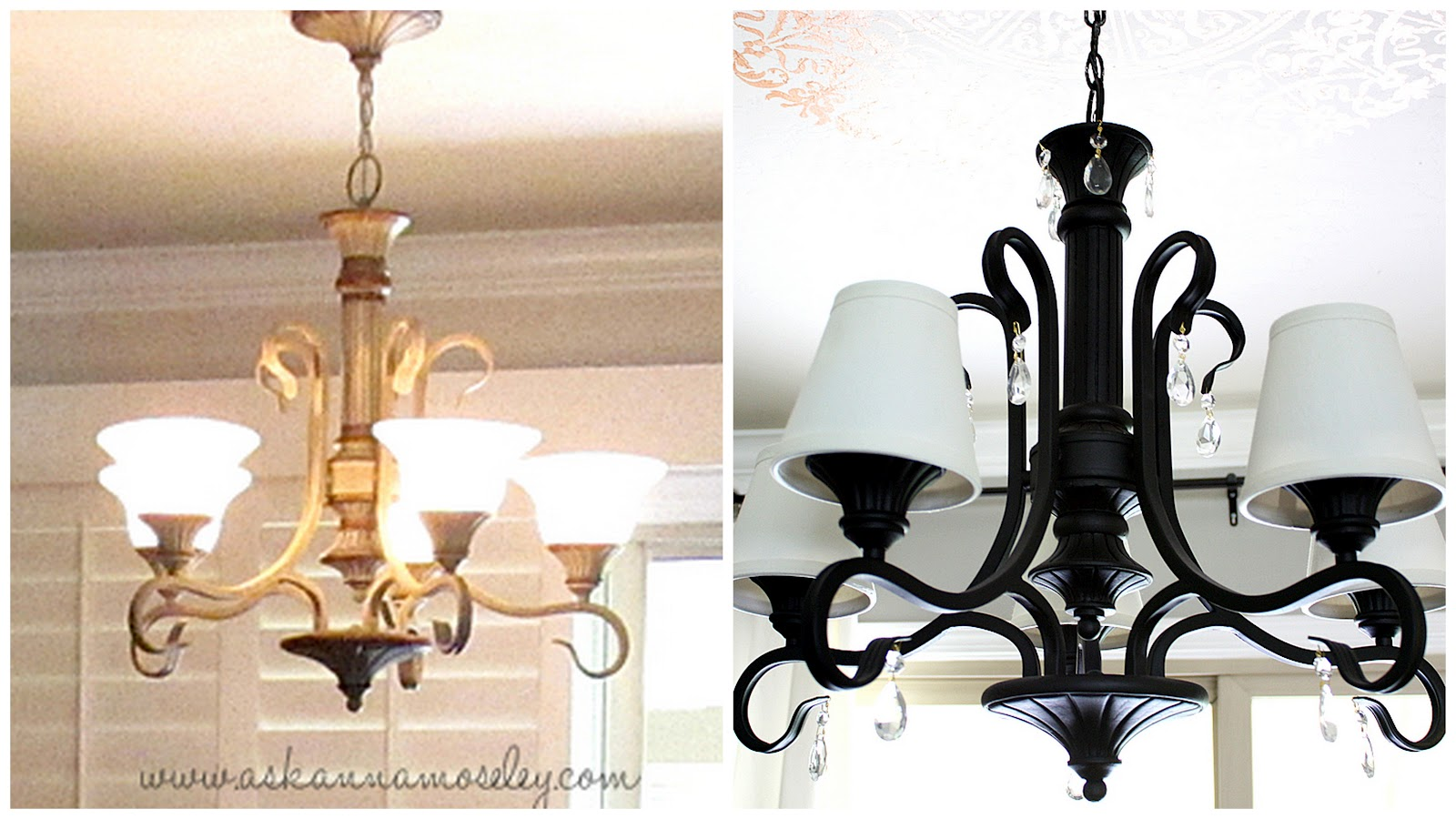 Simple inexpensive chandelier makeover ask anna aloadofball Image collections