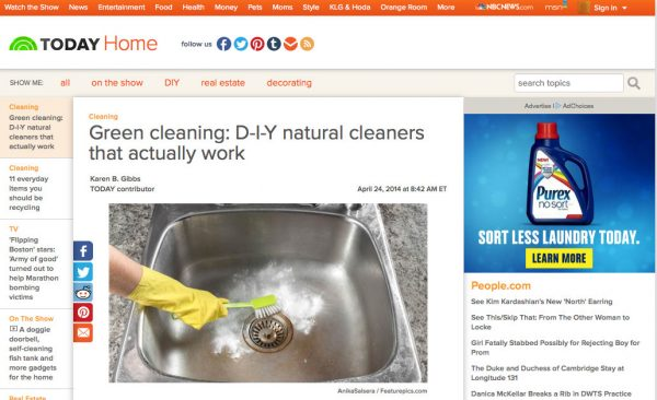 Today.com cleaning round-up