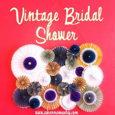 Button Cake & a Vintage Bridal Shower