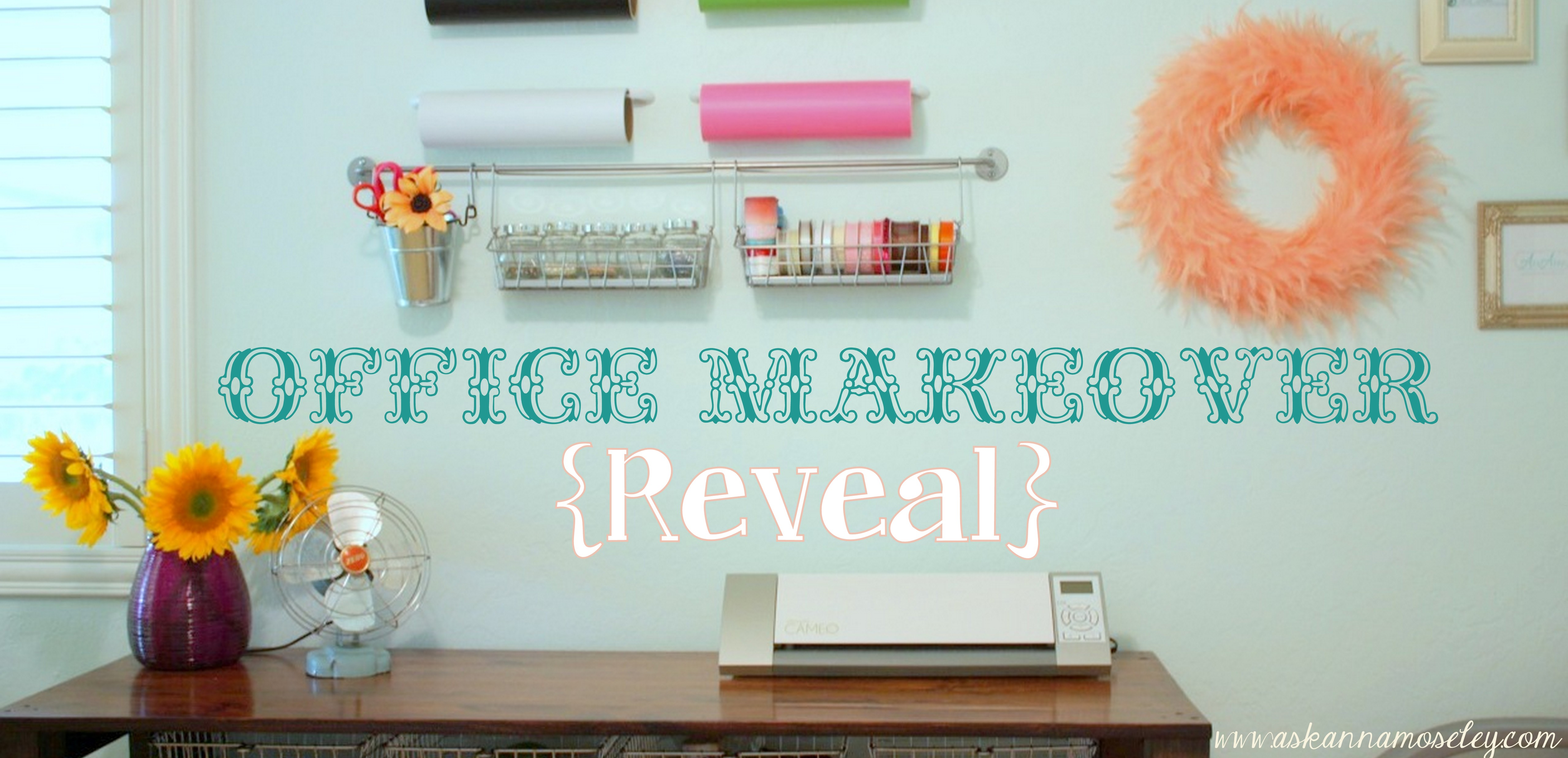 Office & Craft Room Reveal with lots of Craft Room Organization Ideas!