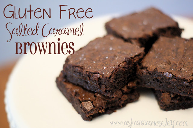 Gluten Free Salted Caramel Brownies