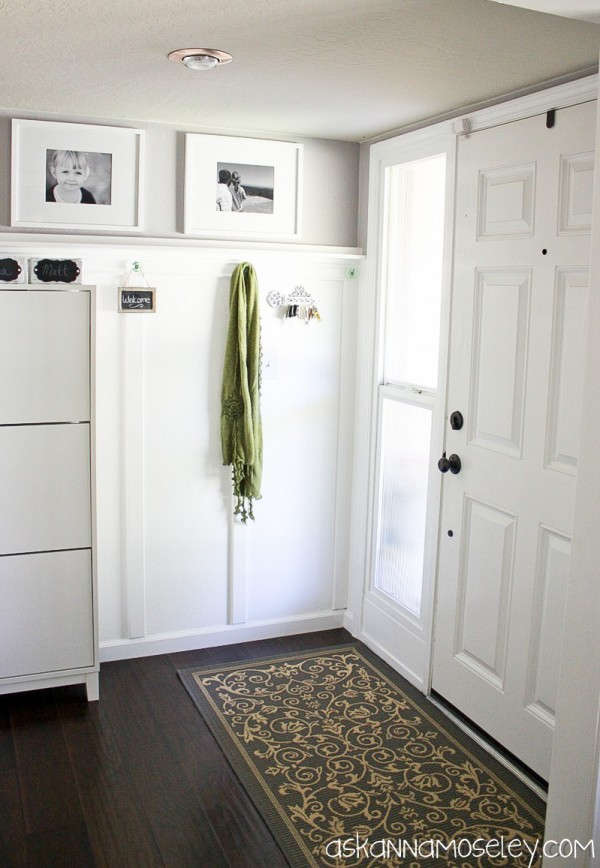 Board and batten entryway makeover and tutorial - Ask Anna