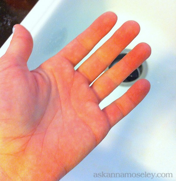 Cleaning paint off skin {a quick and easy tip} -- Ask Anna