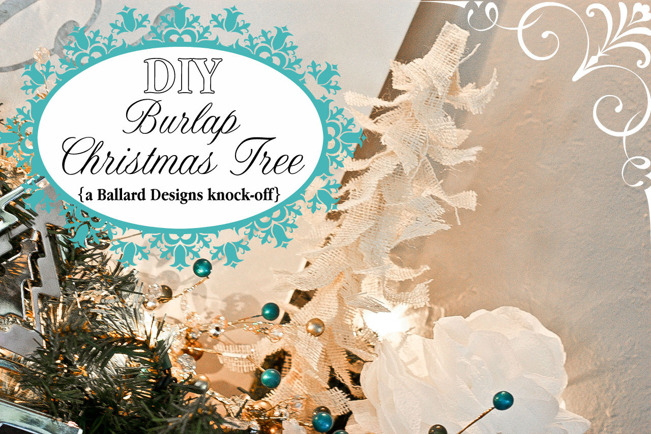Burlap Christmas Tree Tutorial {Ballard Designs Knock-off}