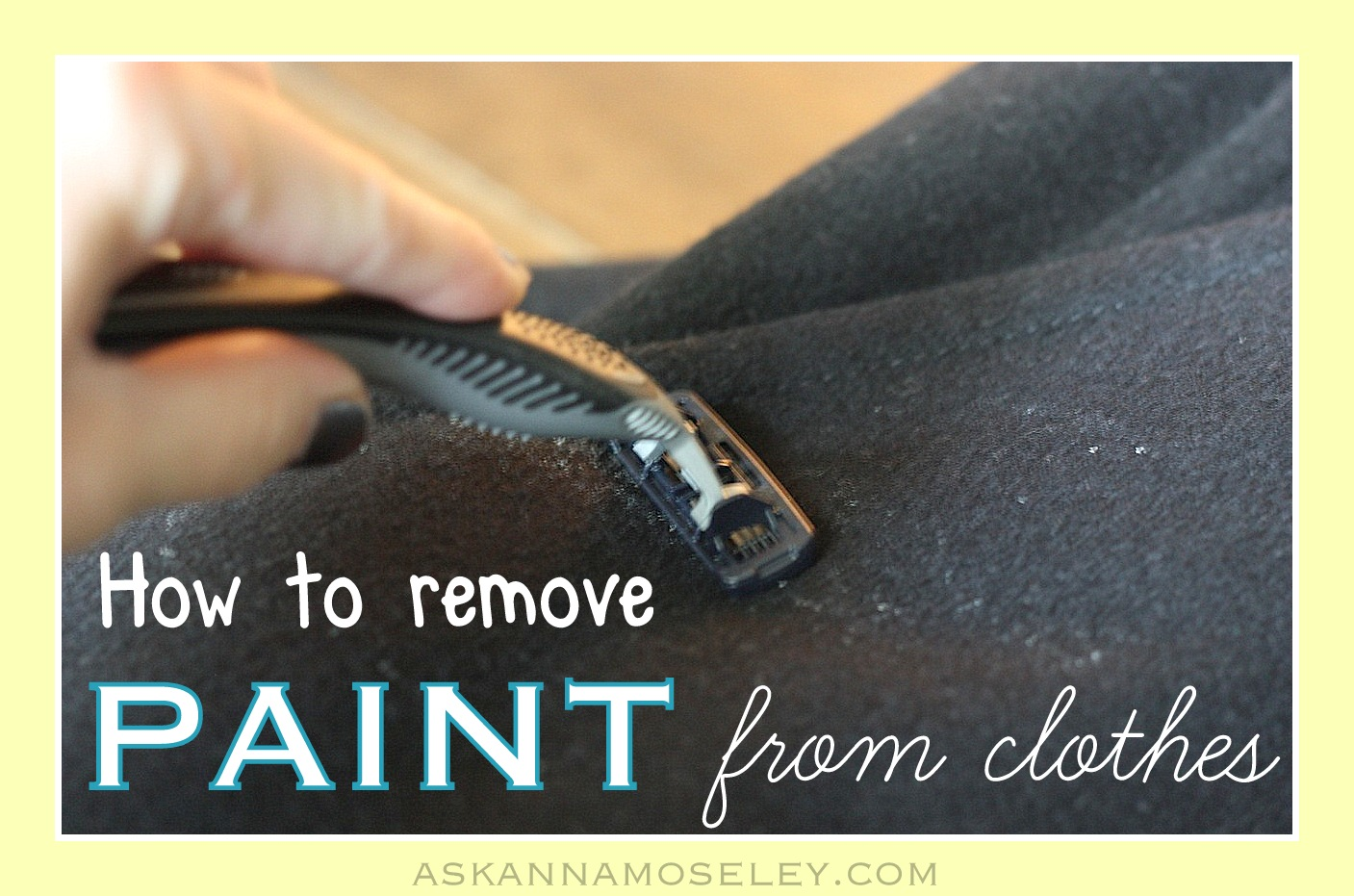 How to get Paint off Clothes