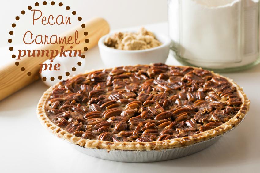 Pecan Caramel Pumpkin Pie