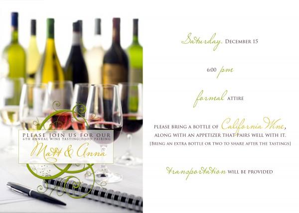 Wine party invitation   Ask Anna