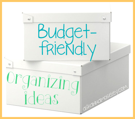Organizing Resolutions: Budget Friendly Organizing Ideas