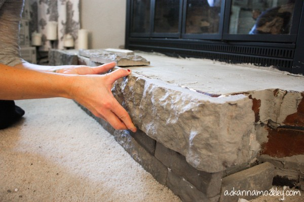 How Much Is Air Stone : Fireplace surround makeover with airstone giveaway ask