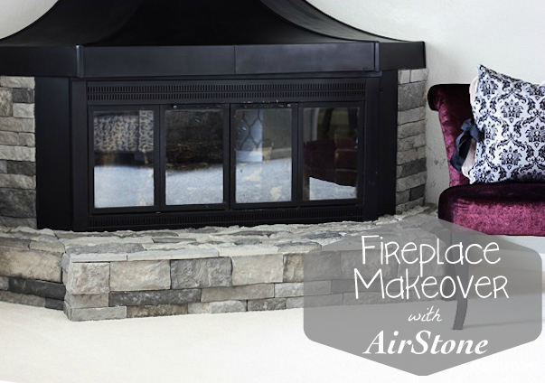 Fireplace surround makeover with AirStone {GIVEAWAY}