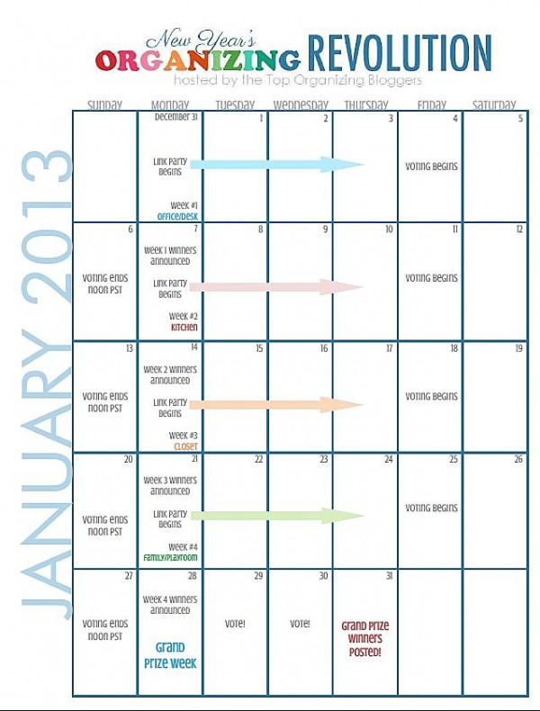 "Organize ""Prize"" Revolution calendar"