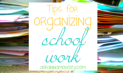 Organizing Resolutions: How to Organize School Work