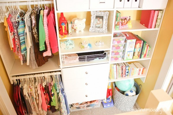 Organized kids closet - Ask Anna