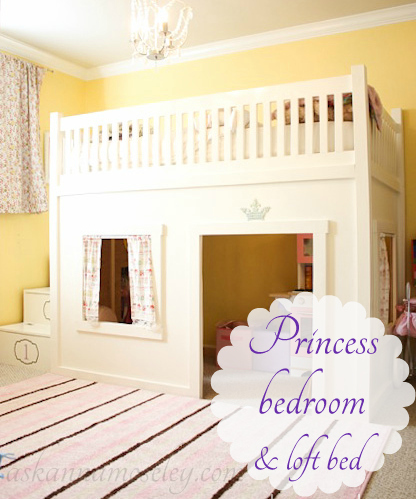 A Princess Bedroom with a Loft Bed