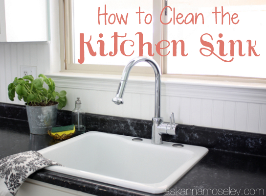 Love to clean the kitchen sink ask anna i love having a clean kitchen sink if the sink is clean it makes the rest of the kitchen feel clean too my go to products for a sparkly clean sink are workwithnaturefo