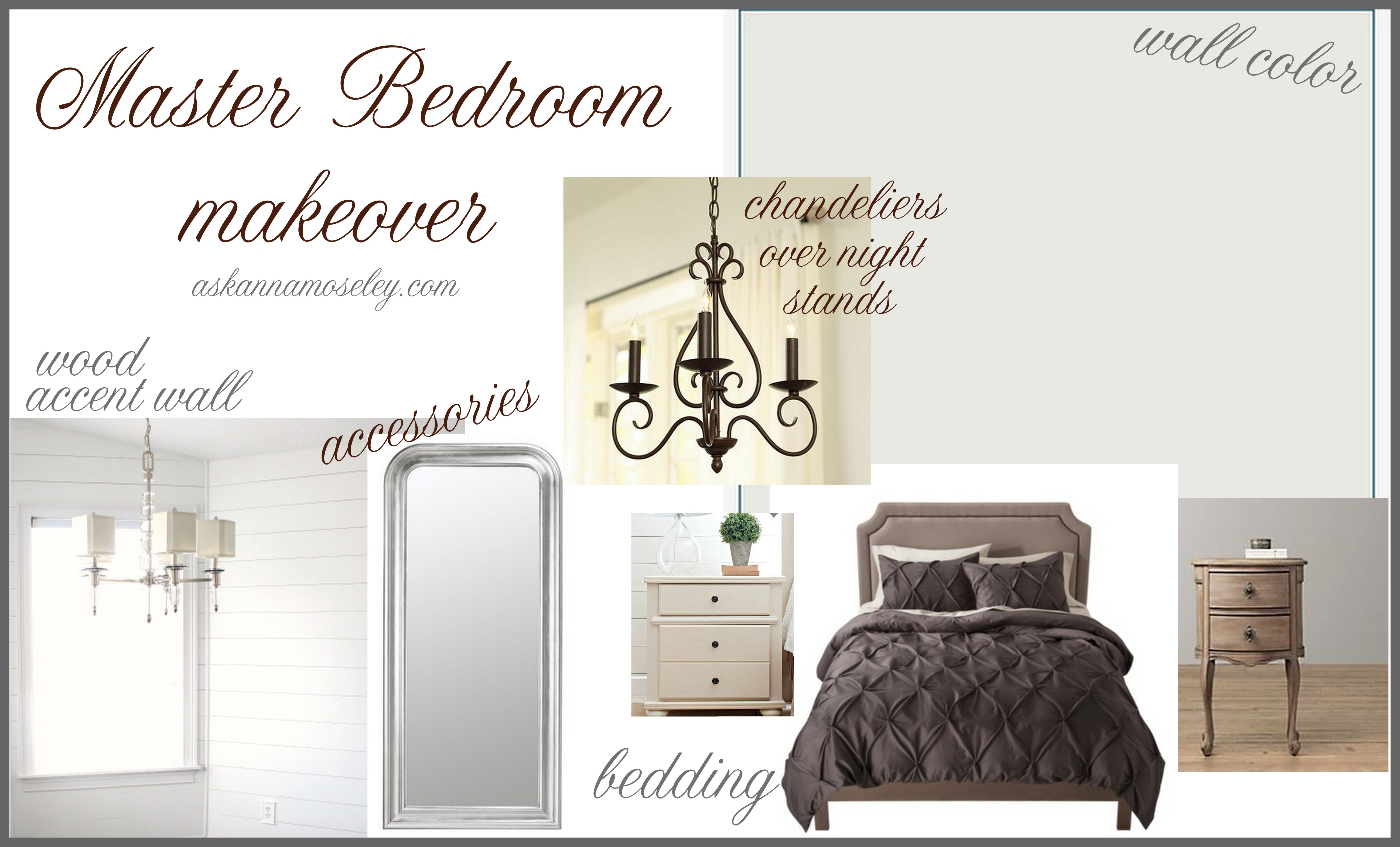 Design board ~ Master bedroom makeover