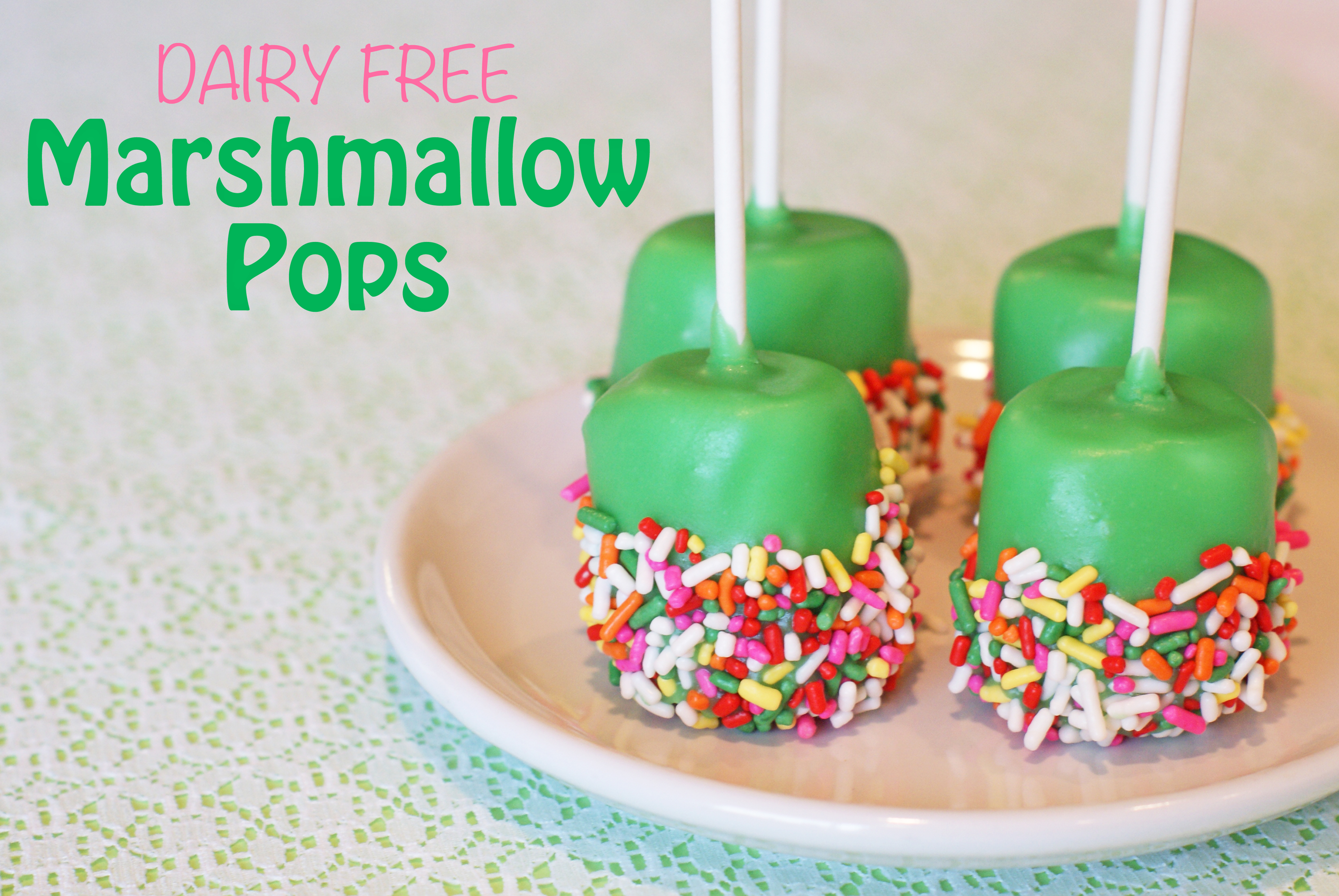 Dairy Free Marshmallow Pops