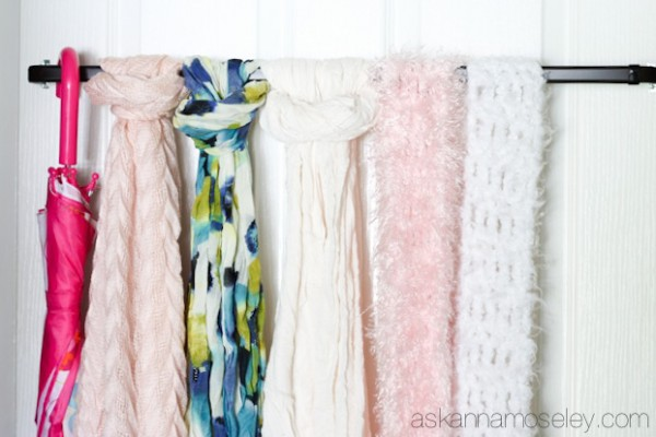 The Easiest way to Organize Scarves - Ask Anna