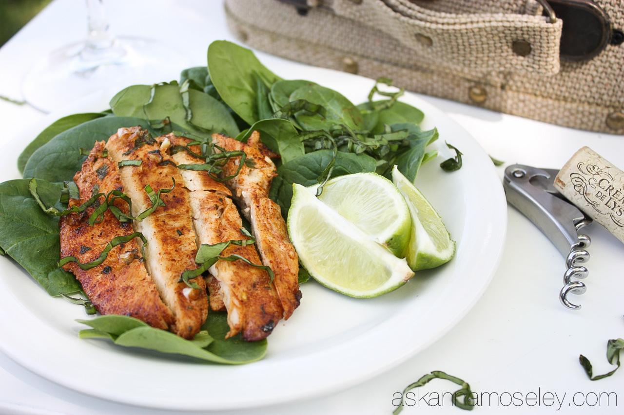 Thai Garlic-lime Chicken Salad