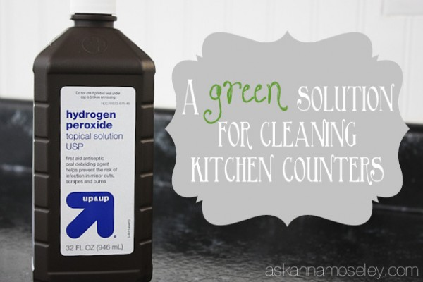 Cleaning your kitchen with hydrogen peroxide - Ask Anna