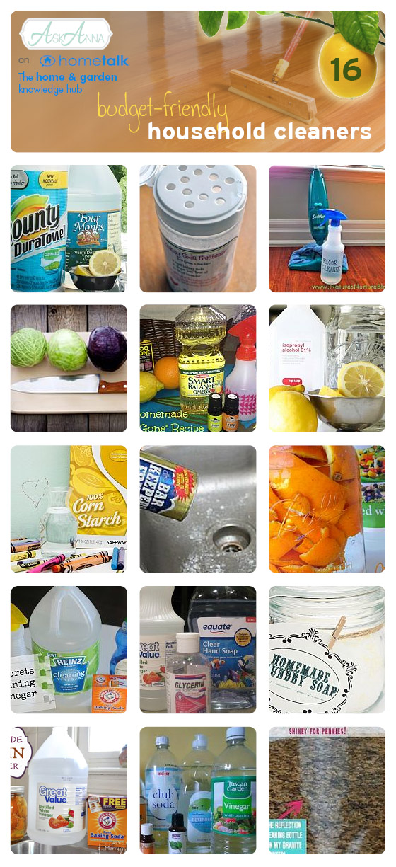 Budget-friendly Home Made Cleaners