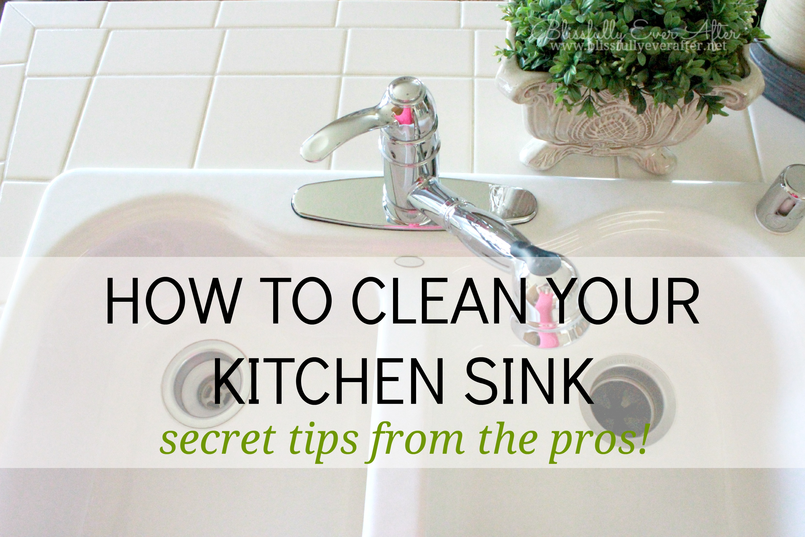 How to clean a sink {like the pros}