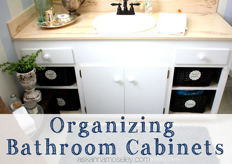 Organizing Bathroom Cabinets