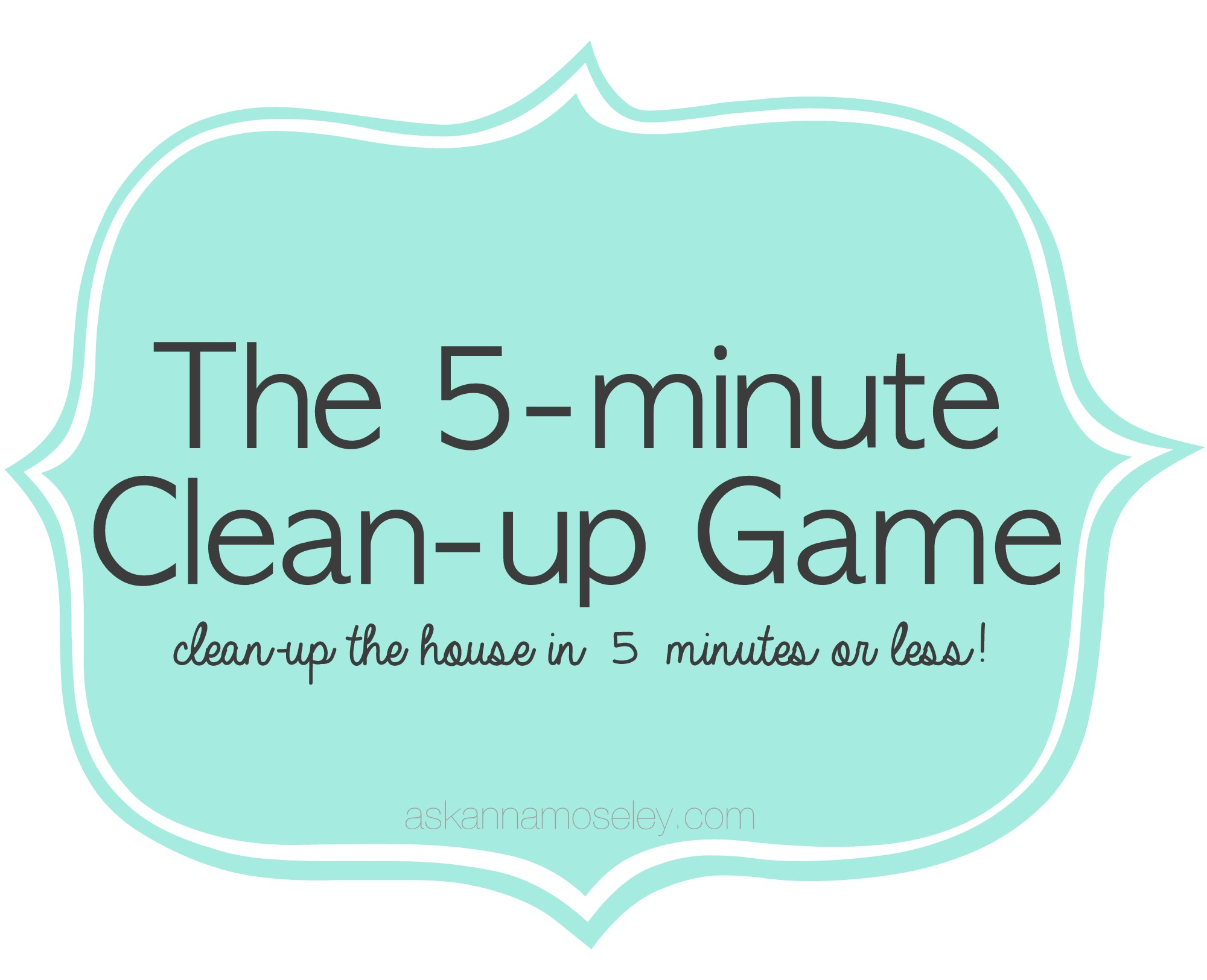 Clean up the House in 5 minutes or less!