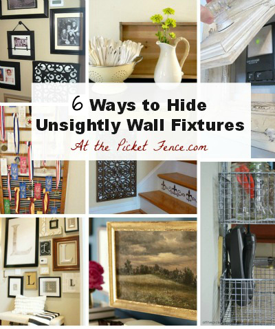 6 ways to hid ugly wall figures