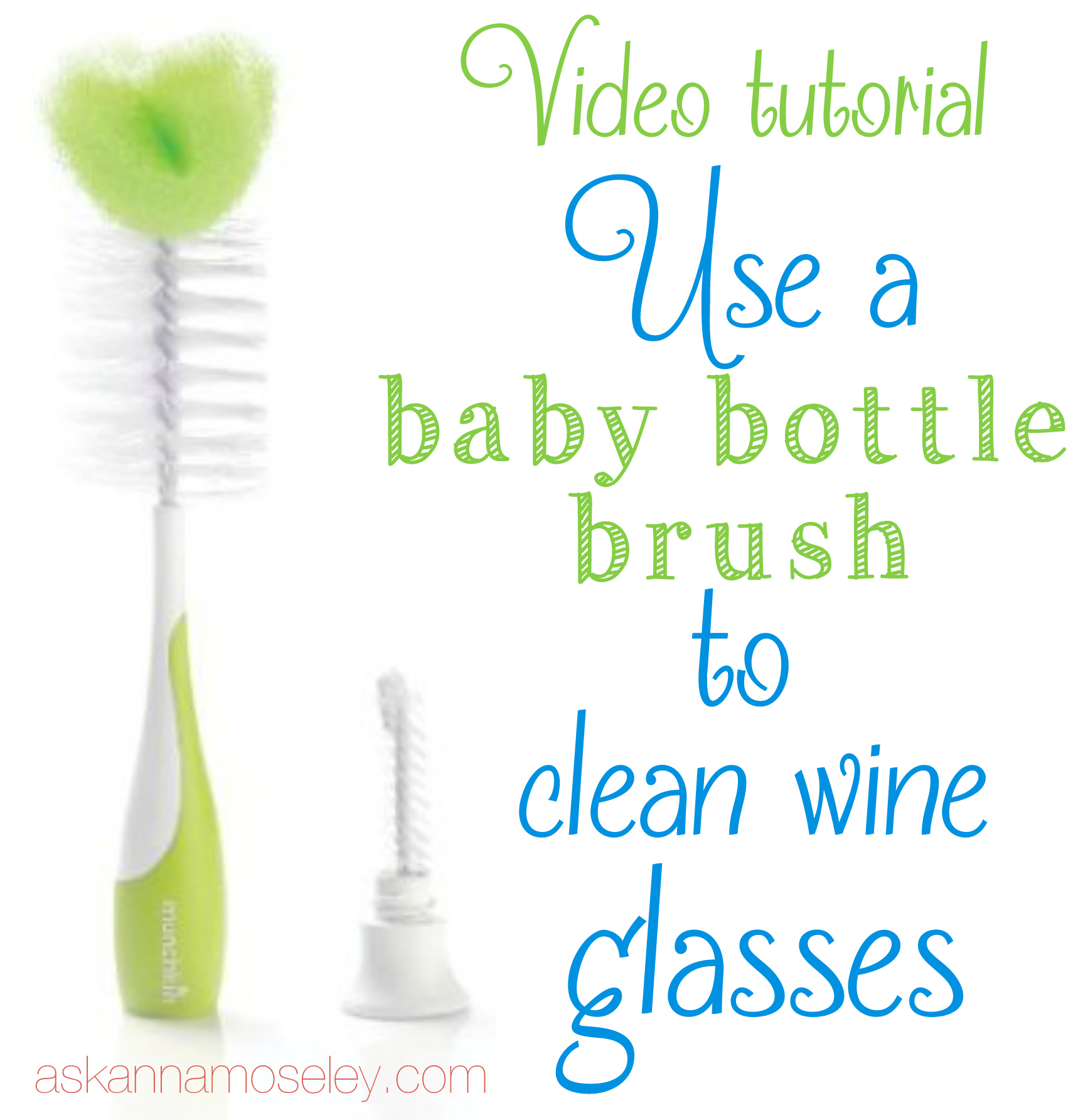 How to Clean a Wine Glass {video tutorial}